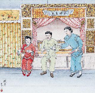 新郎新娘共吃甜湯